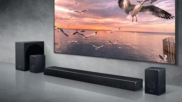 Samsung HW‑Q90R, barre de son Dolby Atmos 7.1.4 et DTS:X