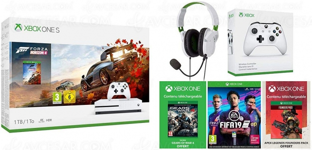Amazon Prime Day 2019, Xbox One S + 2e manette + casque gaming Turtle Beach + 4 jeux à -54%