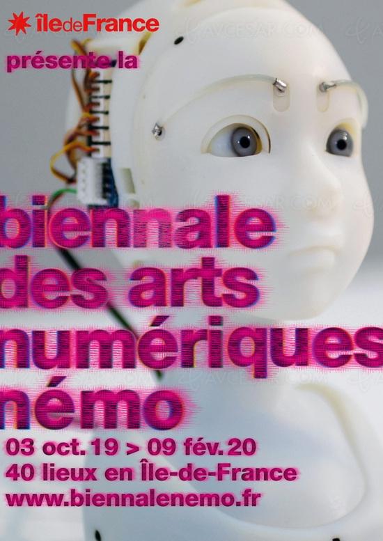 Biennale des arts numériques Némo 2019‑2020, ouverture le 3 octobre