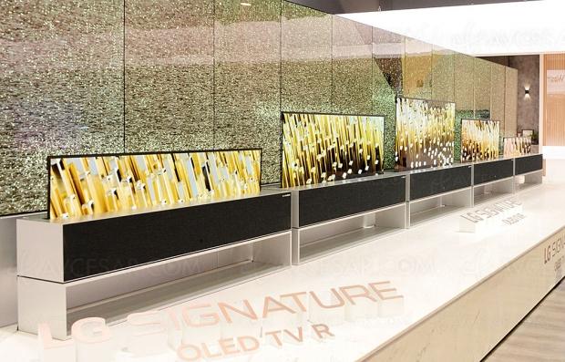 TV LG Signature Oled 65R (enroulable), retardé à 2020
