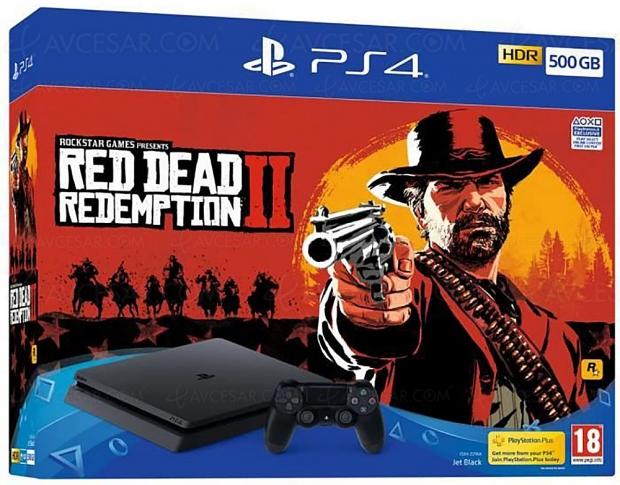 Soldes été 2019, PlayStation 4 + Red Dead Redemption 2 à 287,99 €