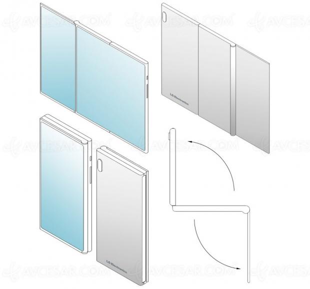 LG brevette un smartphone pliable « triple » écran