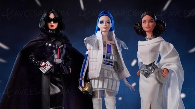 Poupées Barbie Star Wars princesse Leia, R2‑D2 et même Dark Vador !