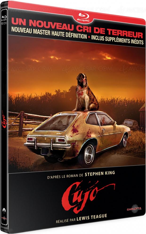 Cujo en édition limitée Steelbook Blu‑Ray : attention chien méchant