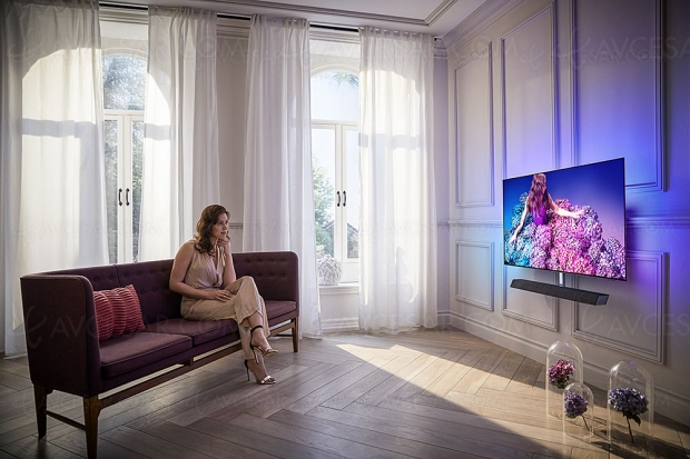 IFA 19 > TV Oled Ultra HD/4K Philips 65OLED+934 avec barre de son 2.1.2 Bowers & Wilkins Dolby Atmos