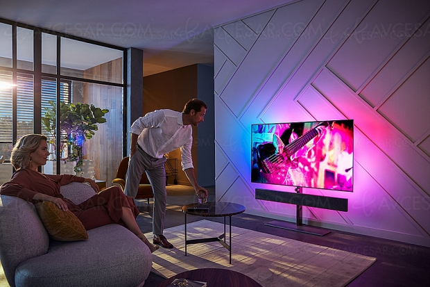 IFA 19 > TV Oled Ultra HD/4K Philips 65OLED+984 avec barre de son 3.0 Bowers & Wilkins, HDR10+/HDR Dolby Vision