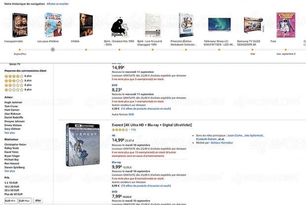 Amazon Semaine de la vidéo, 227 coffrets 4K Ultra HD Blu‑Ray jusqu'à -57%