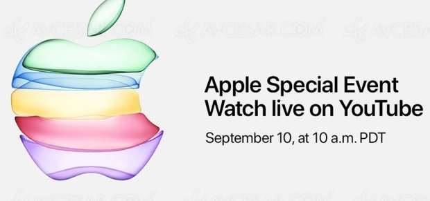 Conférence Apple iPhone/Apple Watch diffusée sur YouTube le 10 septembre