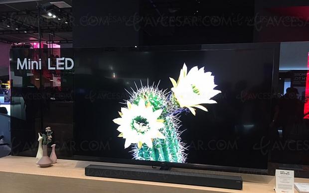 IFA 19 > TV Mini LED UHD/4K TCL X10, mise à jour taille d'écran, disponibilité et prix indicatif