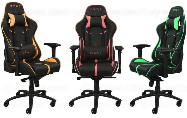 Nouveaux sièges gamer Rekt Team8 Fluo et Rekt Rampage Confort