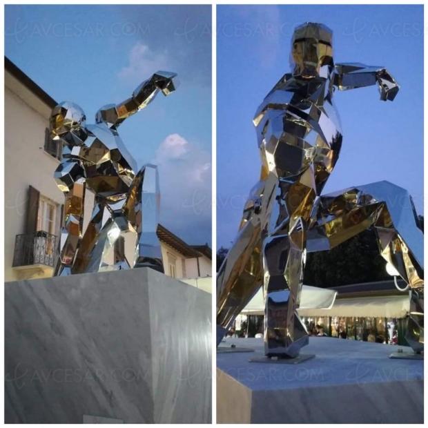 Univers Marvel honoré avec une statue hommage à Iron Man en Italie
