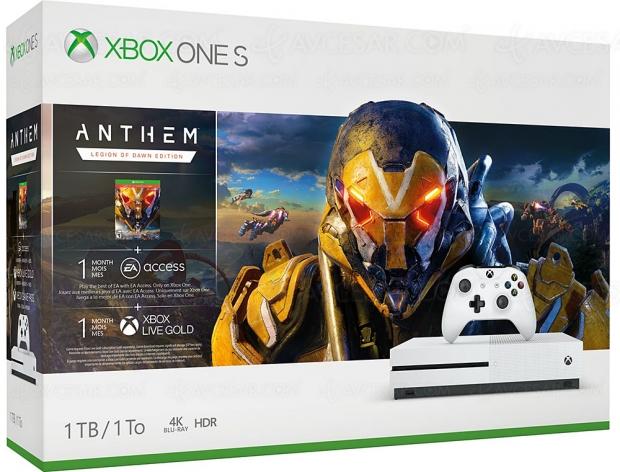 Bon plan Boulanger, Xbox One S + Anthem Legion of Dawn Edition à 169,99 €