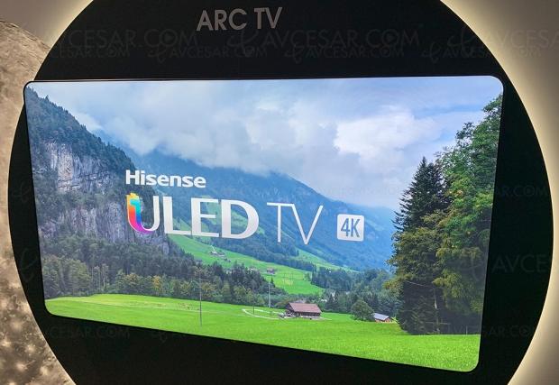 IFA 19 > ARC TV LED concept Hisense à coins arrondis