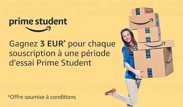 Amazon Prime Student, offre à prix réduit pour les étudiants : plus de 50% de remise