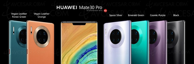 Smartphones Huawei Mate 30 et Mate 30 Pro, disponible en France fin 2019
