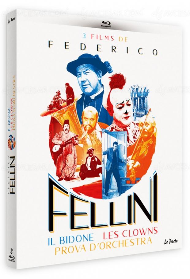 Trois films de Fellini en version restaurée dans un nouveau coffret Blu-Ray