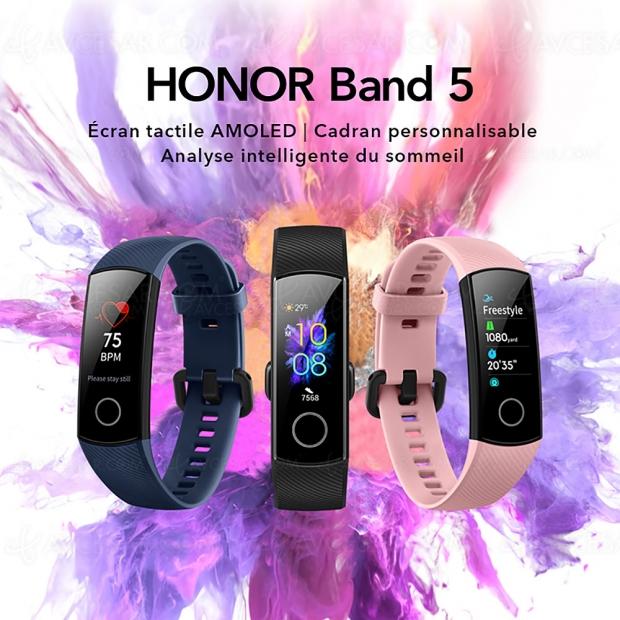 Bracelet Honor Band 5 : valeur de saturation en oxygène du sang, SpO2, disponible