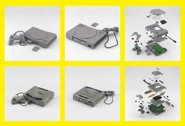 Consoles rétro PlayStation et Saturn… en modèles réduits