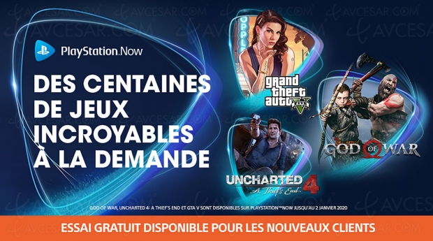 Cloud Gaming PlayStation Now : -33% sur le prix de l'abonnement + God of War, GTA V et Uncharted 4 au menu