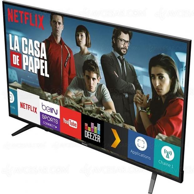 Bon plan CDiscount, TV LED Ultra HD/4K Hisense H58A6050 à 389,99 € ou 109 € de remise