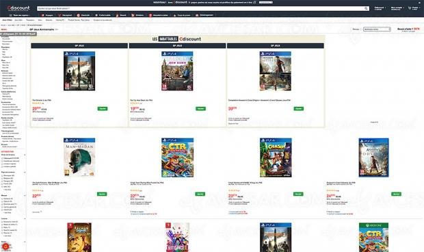 CDiscount 21e anniversaire, 54 jeux PS4, Switch et Xbox One jusqu'à 60% de remise