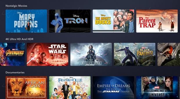 Disney+ : liste des films Ultra HD/4K + HDR Dolby Vision + Dolby Atmos