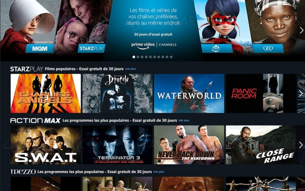 Amazon Prime Video lance le bouquet Channels en France
