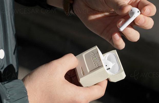 Boîtier de recharge Airpods rétro façon Macintosh