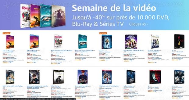 Amazon Semaine de la vidéo, 10 000 4K Ultra HD, Blu‑Ray/DVD et séries TV à petit prix, jusqu'à -63%