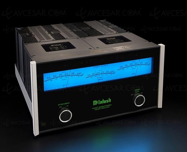 McIntosh MC257, nouvel amplificateur de puissance sept canaux TripleView