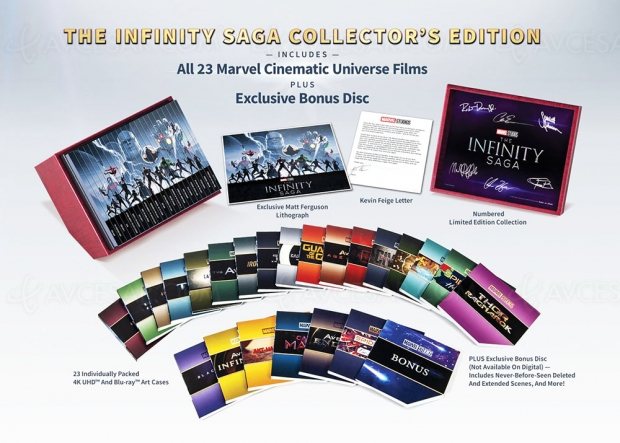 The Infinity Saga, coffret 4K Ultra HD 23 films ou coffret 10 comics brochés ?