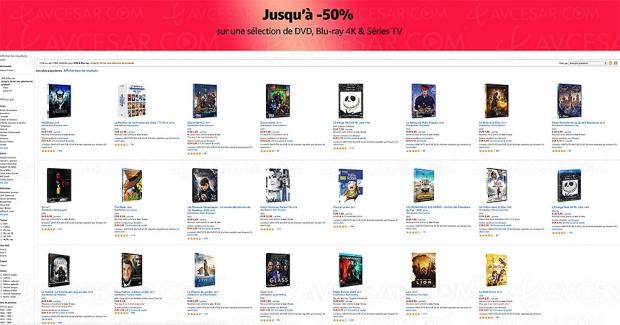 Amazon Bonnes Affaires, 5 000 4K Blu‑Ray, DVD et séries TV jusqu'à -72%