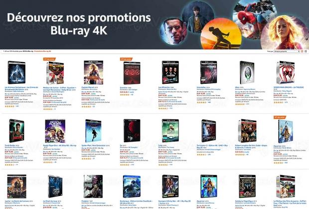Amazon, 239 coffrets 4K Ultra HD Blu‑Ray à petits prix jusqu'au 15 novembre