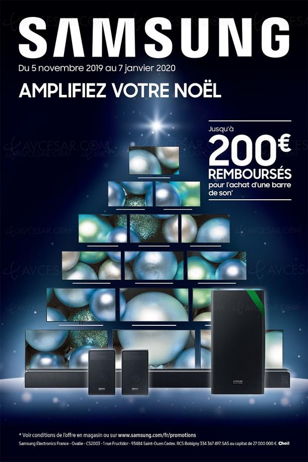 Offre de remboursement Samsung barre sonore, jusqu'à 200 € remboursés