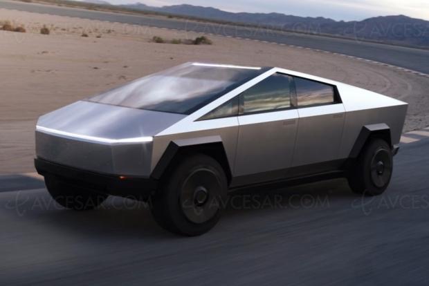 Cybertruck, le pick‑up électrique de Tesla inspiré par la (vieille) SF, déjà 200 000 réservations