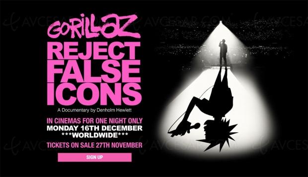 Reject False Icons : documentaire inédit sur Gorillaz au cinéma le 16 décembre