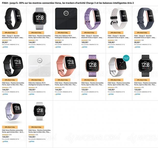 Black Friday 2019 > Amazon Fitbit : montres connectées, tracker d'activité, balance… jusqu'à 35% de remise