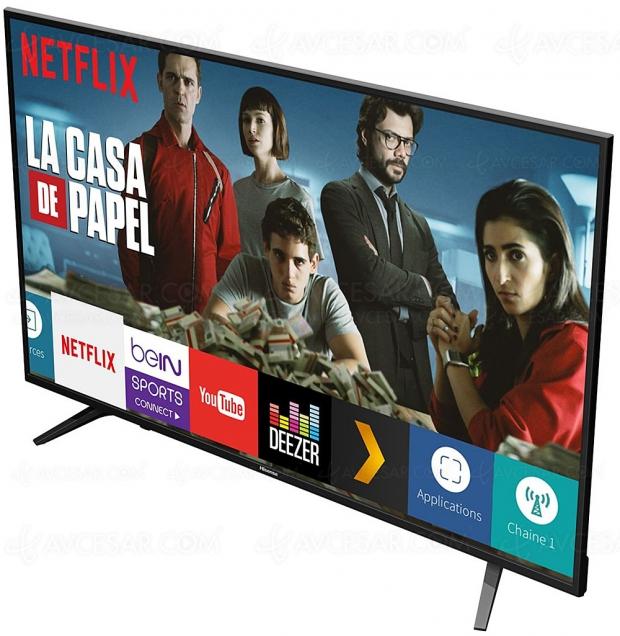 Black Friday 2019 > TV LED Ultra HD/4K Hisense 58A6100 à 349 € soit 30% de remise