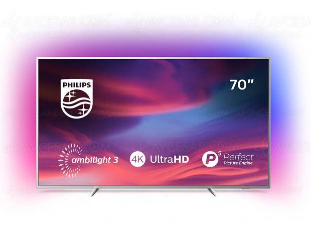 Black Friday 2019 > TV LED Philips The One 70PUS7304 à 899 € soit 31% ou 400 € de remise