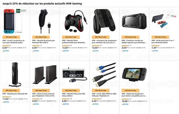 Black Friday 2019 > Amazon, accessoires Nintendo Switch, Wii/Wii U, Nes Classic Edition jusqu'à 25% de remise