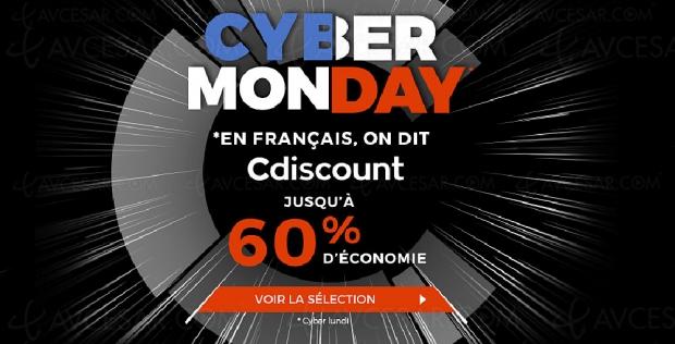 Cyber Monday 2019 > CDiscount jusqu'à 60% de remise sur des milliers d'articles