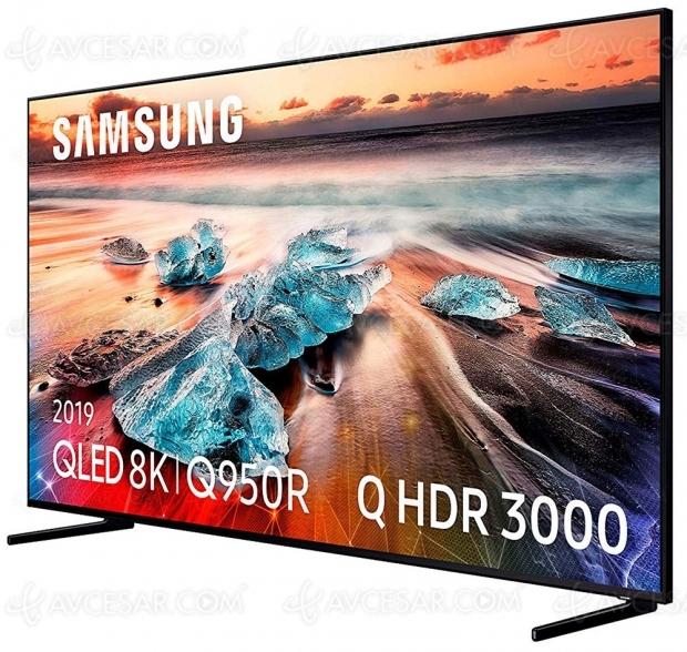 Cyber Monday 2019 > TV LED Ultra HD/8K Samsung QE55Q950R à 1 999 € soit 1  299 € de remise