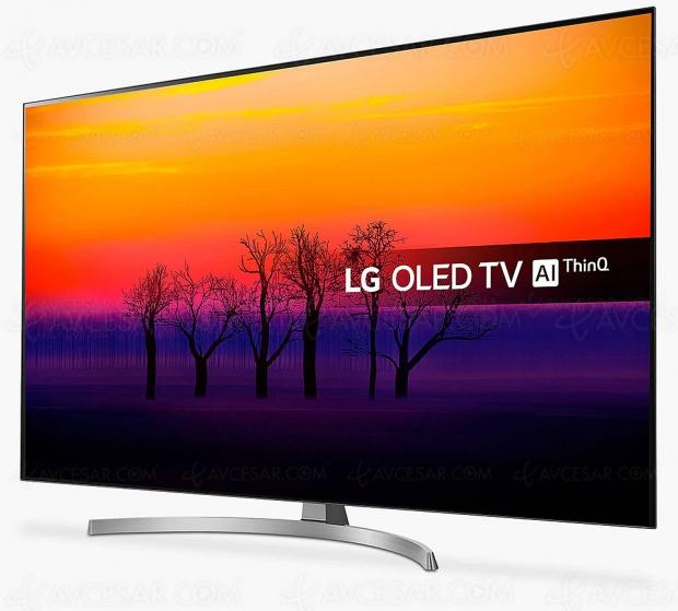 Cyber Monday 2019 > TV Oled Ultra HD/4K LG OLED55B8S à 1 199 € soit 300 € de remise