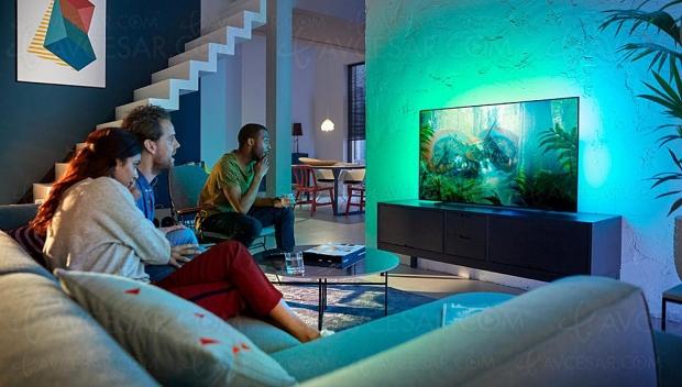 Cyber Monday 2019 > TV Oled Philips 55OLED754 à 1 099 € soit 26% ou 400 € de remise