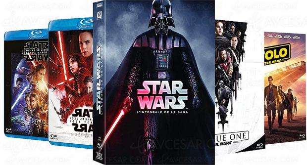Promos Amazon, intégrale Star Wars Blu‑Ray et DVD à petit prix
