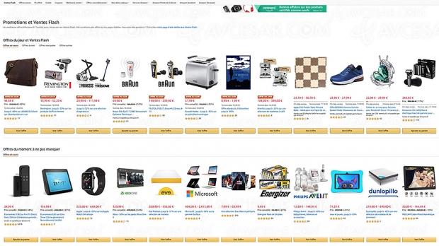 Ventes Flash Amazon, 3 983 produits à prix incroyables, jusqu'à -94% : objectif cadeaux de Noël