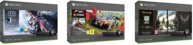 Ventes flash Noël 2019 > Amazon packs Xbox One X Fallen Order ou Forza Horizon 4 ou The Division 2 à 329,99 € jusqu'à 40% de remise