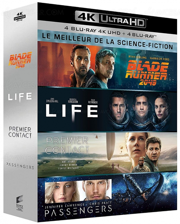Ventes flash Noël 2019 > Amazon coffret 4K science‑fiction 4 films à ‑65% de remise