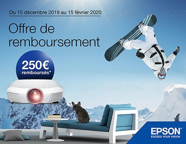 Offre de remboursement Epson EH‑TW7400, 250 € remboursés : sur montres et bracelets connectés