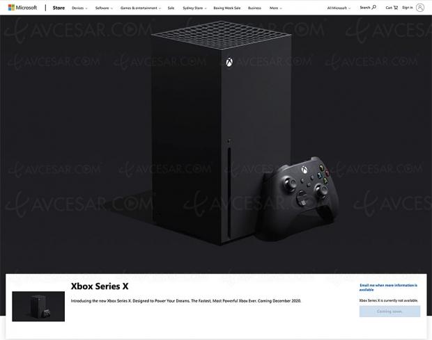 Xbox Series X subodorée en décembre 2020